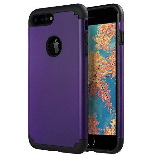 FQIAO iPhone 7 Plus Espalda Caso Suave PC+TPU 2-in-1 A Prueba de...
