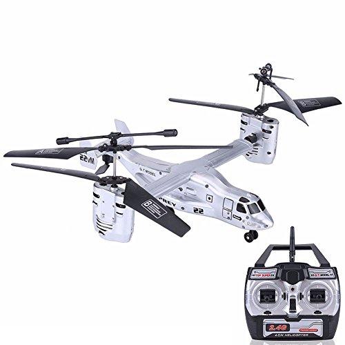 Bolange Mode RC Hubschrauber Quad-Aviator 2.4G Twin Engine Fernbedienung Flugzeug Spielzeug Kinder Weihnachten Spielzeug - Silber