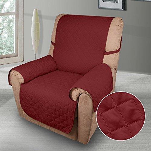 KINLO 1 Sitzer Sofa Protector Möbelbezüge für Hunde / Katzen Bett mit Sofa Slipcovers 177 cm * 56 cm (Rotwein)