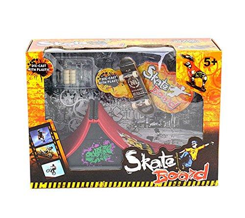 Drasawee Kids Stunt Finger Skateboard Playset Skate Ramp With Accessories Educational Gift 1#