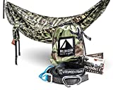 WildHorn Outfitters Outpost Camping Hammock With Adjustable Litespeed Cinch Buckle Suspension System Double Woodland Camo