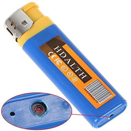 GadgetsForYou! Spy Cam Feuerzeug Mit Versteckte Mini Spion Kamera Spionage Getarnte Spycam A22