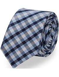Krawatte von Fabio Farini kariert blau schwarz