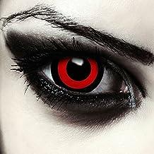 """Mini sclera lentillas de colores negro y rojo para Halloween Saw muñeca costume 17mm lentes sin dioprtías / corregir + gratis caso de lente """"Tokyo Ghoul"""""""