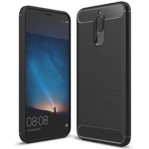 Huawei Mate 10 Lite Hülle Handyhülle von NALIA, Ultra Slim Silikon Case Cover, Dünne Crystal Schutz Silikonhülle Etui Handy-Tasche Back Bumper, TPU Gummihülle für Mate-10 Lite Smart-Phone - Schwarz