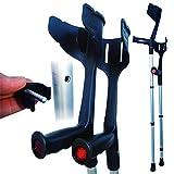 Rebotec 'Magic Twin' Strong Adjustable Crutches