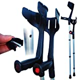 Rebotec 'Magic Twin' Strong Adjustable Crutches - Black