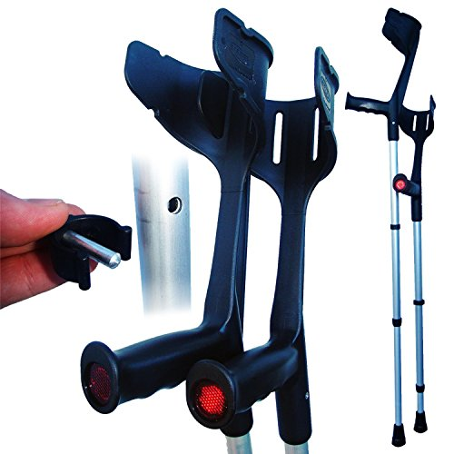 Invacare® 'Magic Twin' stabile, verstellbare Krücken (Schwarz)