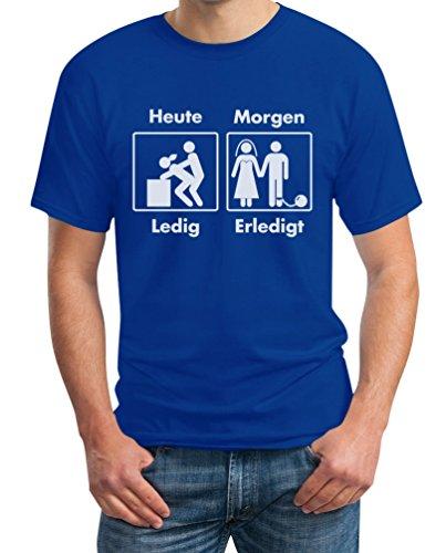 Junggesellenabschied JGA Heute Ledig Morgen Erledigt T-Shirt X-Large ()