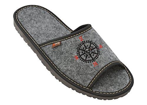 BeComfy-Sinti-Ligero-Zapatillas-de-Estar-por-casa-Calentar-Fieltro-Elegante-Suave-Gris-Negro-para-Hombre-Tamao-40-46-EU-Modelo-FM61