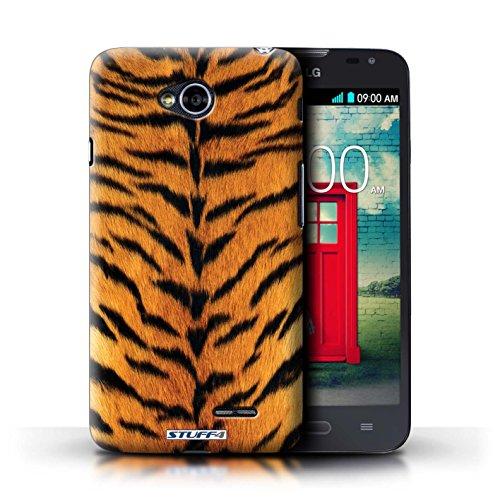 Kobalt® Imprimé Etui / Coque pour LG L70/D320 / Zèbre conception / Série Motif Fourrure Animale Tigre