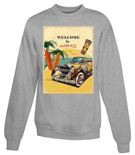Billion Group | Welcome To Amazing Hawaii | Women's Unisex Sweatshirt Gris