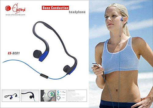BIOXAR Bone 1 Fitness Sport Headset PC Kopfhörer Headphone Bone Conduction (Bone Conduction Kopfhörer)