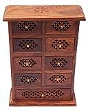 ITOS365 Handmade Wooden Jewellery Box fo...