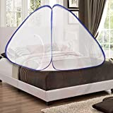 #7: AmazingHind Mosquito Net.Foldable Mosquito Net for Double Bed without base cloth. Best mosquito net online. Free carry Bag | Color - White