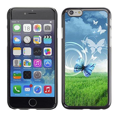 Graphic4You Bunt Schmetterling Schmetterlinge Muster Design Harte Hülle Case Tasche Schutzhülle für Apple iPhone 6 / 6S Design #4