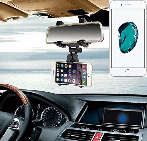 Supporto Smartphone specchietto retrovisore per Apple iPhone 7 Plus, nero | Specchio Holder staffa auto - K-S-Trade (TM) - Guida All'acquisto Holder