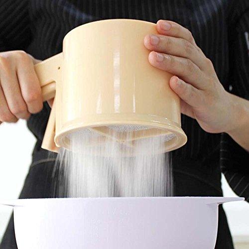 Backen-Werkzeug-Mehl, Das Zuckerpulver-Handschalen-Filter-Feine Maschen-Nahrungsmittelgrad-Pp. Plastiksieb-Integrales Mehl-Sieb Siebt