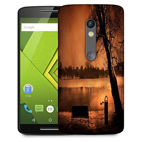 Snoogg Evening Lake View Designer Protective Phone Back Case Cover For Moto G 3rd Generation