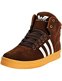 WESTCODE Mens Online Brown Synthetic Leather High Top Casual Shoes And Sneakers