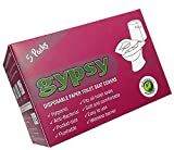 #4: Gypsy Hygienic Disposable Toilet Seat Covers Travel Pack for Hotels , Public toilet , home. Travel Accessory that Protects from skin infection, Germs & Bacteria and maintain Hygiene. (Pack of 50 Sheets)