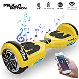 Mega Motion Monopatín Eléctrico E1-6.5' Eléctrico Segway- Bluetooth - Seguridad UL - CE