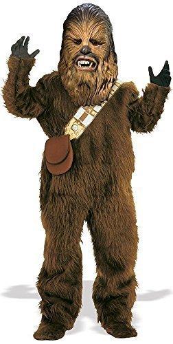 Kinder Jungen Mädchen Deluxe Pelz Chewbacca Star Wars Büchertag Halloween Kostüm Kleid Outfit Gr. 98-140 - Braun, Braun, 128 - (Halloween Chewbacca Kostüm)