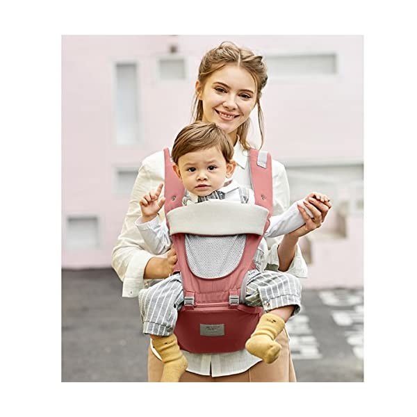 SONARIN 3 in 1 All Season Breathable Hipseat Baby Carrier,Sun Protection,Ergonomic,Multifunction,Easy Mom,Adapted to Your Child's Growing, 100% Guarantee and Free DELIVERY,Ideal Gift(Pink) SONARIN Applicable age and Weight:0-36 months of baby, the maximum load: 30KG, and adjustable the waist size can be up to 45.3 inches (about 115 cm). Material:designers carefully selected soft and delicate Cotton cloth. Resistant to wash, do not fade, ensure the comfort and wear resistance, Inner pad: EPP Foam,high strength,safe and no deformation,to the baby comfortable and safe experience. Description: patented design of the auxiliary spine micro-C structure and leg opening design, natural M-type sitting.Side double storage bag, store mobile phones, wipes and other necessities. H-type bridge belt, effectively fixed shoulder strap position, to prevent shoulder straps fall, large buckle, intimate design, make your baby more secure. 3