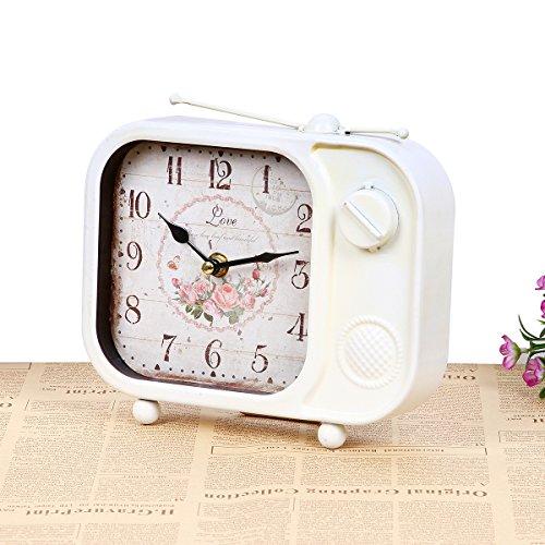 kinine Dormitorio retro living comedor TV solo reloj mudo adornos creativos