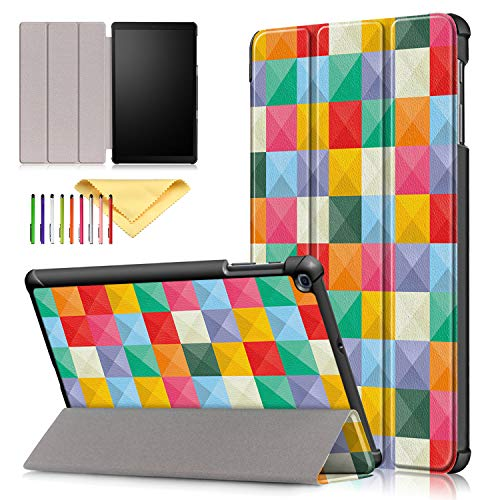 Galaxy Tab A 10.1 2019 Hülle SM-T510 / SM-T515, Uliking Ultra Slim Case Cover mit Trifold Standfunktion mehrere Betrachtungswinkel Shell Case für Samsung Galaxy Tab A 10.1 Zoll Tablet #02_Magic Cube Cube Tablet