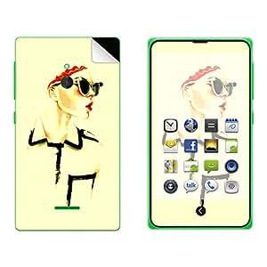 Skintice Designer Mobile Skin Sticker for Nokia XL, Design - Art fashion