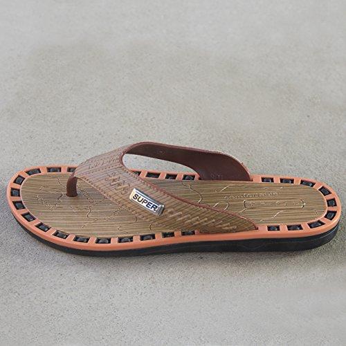 Chaussons d'été, les hommes pieds antidérapant, pincez les chaussures de plage, rétro camouflage, caractère simple, faites glisser l'homme 301 Khaki