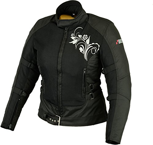 BOS Sommer Motorradjacke - Cordura - Protektoren - Schwarz M