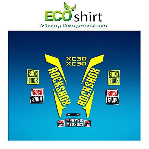 Ecoshirt RockShox XC30 AM169 Autocollants pour fourche de vélo, citronier