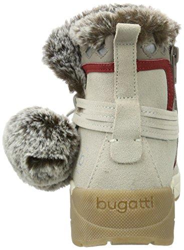 Bugatti 421277501459, Bottes Femme Blanc (blanc Cassé / Gris)