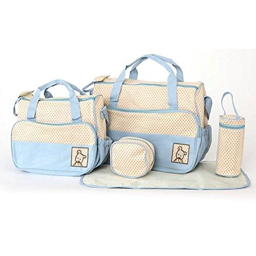 nuolux Playstation Multifunktions-Große Kapazität Baby Windel Windel ändern Pad Reisen Mummy Tasche himmelblau/blau