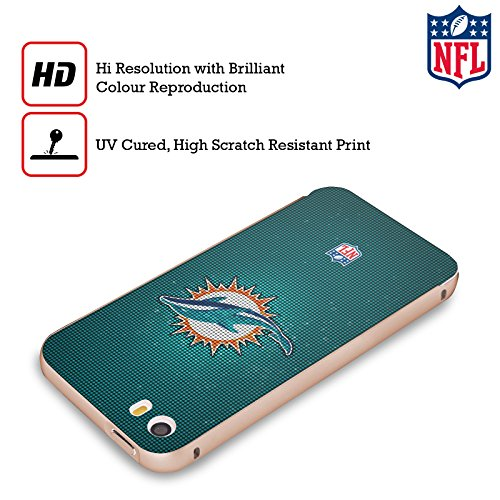 Ufficiale NFL Marmo 2017/18 Miami Dolphins Oro Cover Contorno con Bumper in Alluminio per Apple iPhone 5 / 5s / SE LED