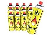 REX Camping Gaskartusche BUTAN-Gas à 227 g Inhalt pro Flasche für Camping-Kocher Outdooraktivitäten Grillen (12er-Pack)
