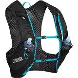 CamelBak Nano Vest 17 oz Quick Stow Flask Hydration Pack, Large, Black/Atomic Blue