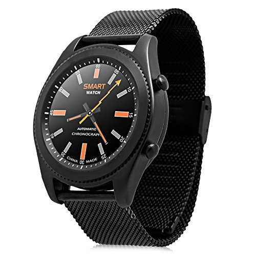 No.1 S9 Smartwatch Heart Rate Bluetooth Intelligente Bracciale Sport Fitness Tracker Sonno Quality Monitor PSG Chiamata / Notifica Promemoria Per Android e IOS Cinturino di metallo Nero
