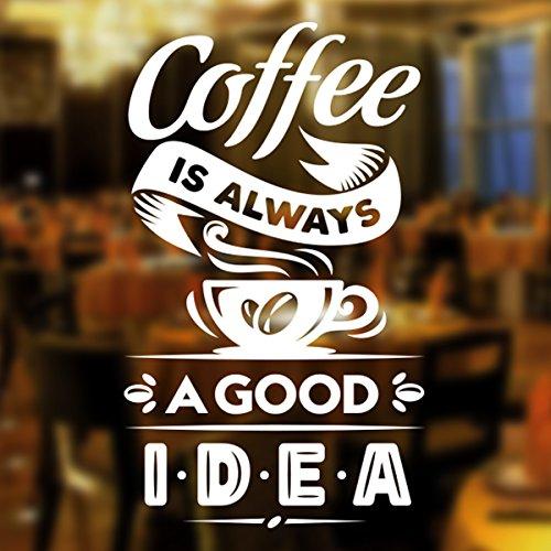Coffee Good idea Kaffee-Takeaway-Tasse Cafe Shop Vinyl-Aufkleber Fenster Beschriftung Wand Kunst Zeichen Dekor