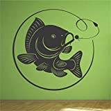 Carp Bolt Rig Fishing Fish Wall Art Sticker Decal Mural (other sizes available) (Large 110cm x 103cm) by Red Parrot Graphics