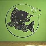 Karpfen Bolt Rig Angeln Fisch Art Wand Aufkleber Aufkleber Wandbild (weitere Größen erhältlich), Medium 60cm x 57cm
