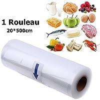 1 Rouleau sous Vide pour Tous les Appareils de Mise sous Vide Luniquz Sacs sous Vide pour Aliments ---20*500cm