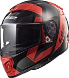 LS2 Helmets Unisex-Adult Full-face-Helmet-Style Motorcycle (Physics Red, X-Large)
