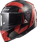 LS2 390-1334 Full Face Helmet (Red, L)