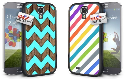 chevron-wood-teal-stripes-pastel-design-combo-two-pack-for-samsung-galaxy-s4-mini