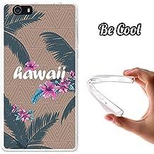 Becool® Fun - Funda Gel Flexible para Elephone M2, Carcasa TPU fabricada con la mejor Silicona, protege y se adapta a la perfección a tu Smartphone y con nuestro exclusivo diseño. Hawaii