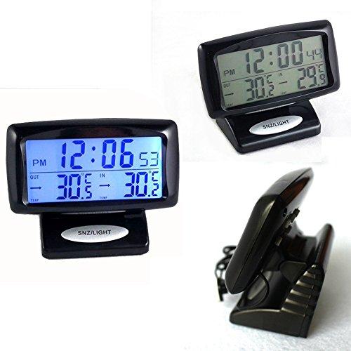 2in 1Auto Elektronische LCD-Display Digital Temperaturmessgerät Thermometer, digitale Anzeige, innerhalb und außerhalb Dual Temperatur Mess-Werkzeug mit Hintergrundbeleuchtung Funktion