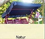 Sonnendach, Schaukeldach, Ersatzdach Hollywoodschaukel, nach Maß passt überall Farbe natur (ohne umnähten Kanten)